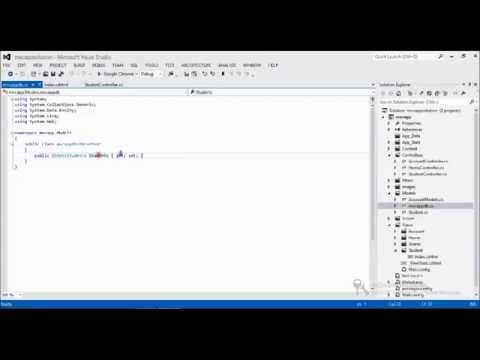 Part7: Showing data in list or Table format in asp net mvc