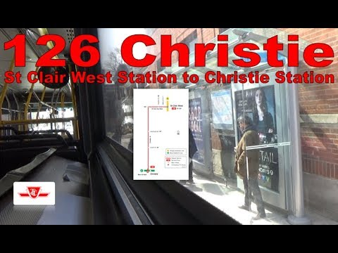 126 Christie - TTC 2008 Orion VII NG HEV 1325 (St Clair West Station to Christie Station)