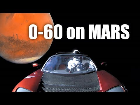 How Fast Could A Tesla Roadster Hit 60 MPH On Mars?
