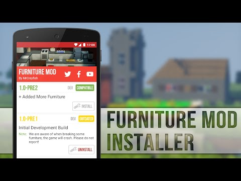 How to Install Furniture Mod for MCPE 0.13.0!