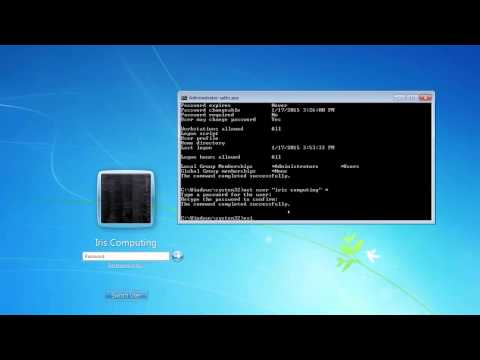 Remove Windows accounts or change PC administrator passwords using command prompt. Windows 7,8 & 10