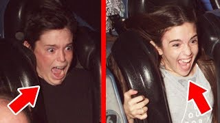 ROLLER COASTER FACE CHALLENGE!! - Ultimate Disney Christmas Moments