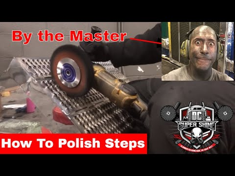 How To Polish Peterbilt steps by DC Super Shine