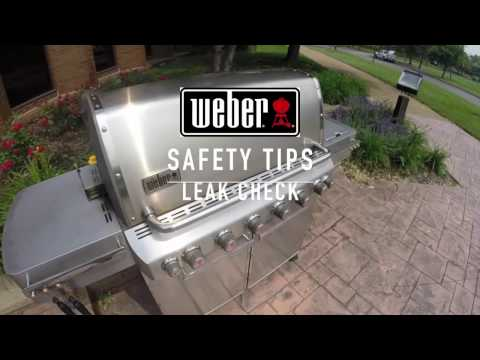Weber Gas Grill Safety Tips: Leak Check