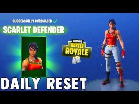 SCARLET DEFENDER SKIN FINALLY!! Fortnite Daily Reset & New Items in Item Shop