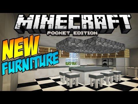 [0.11.1] FURNITURE MOD!! - Table, Stools & MORE! - Minecraft Pocket Edition