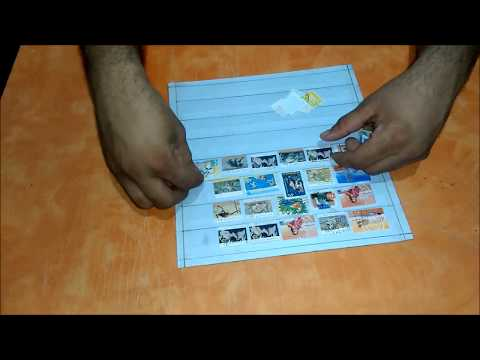 How to make Postage Stamp Collection Album / Stamp Stockbook