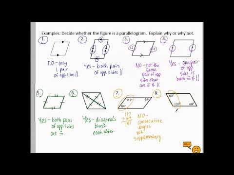10.1a Parallelograms Properties and Algebra with examples