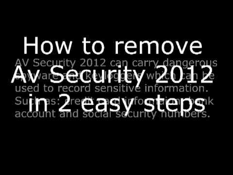 Remove AV Security 2012 Fake AV