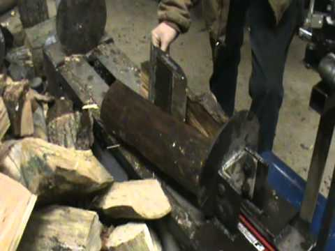 Homemade log splitter electric Two way