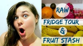 My Raw Fridge & Fruit Stash Tour || THAILAND EDITION