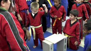 How to break a board with a hammer fist at Brooklyn karate school - Part 2
