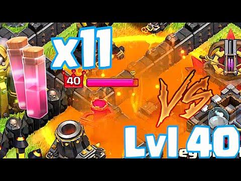 Clash Of Clans - POISON SPELLS x 11 vs. LvL 40 QUEEN (INSANE!!!)