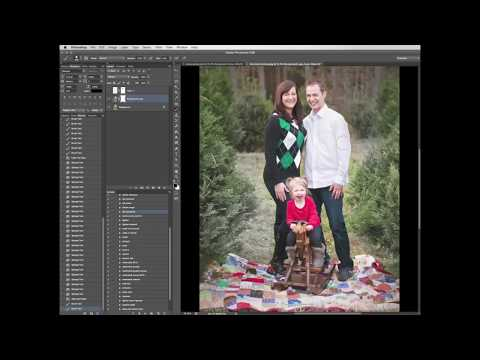 How to Create a Winter Photo in Photoshop and How to use Snow Overlay