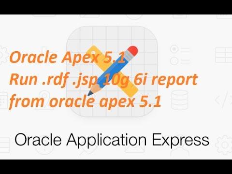 oracle apex 5.1 Run .rdf, .jsp report from oracle apex