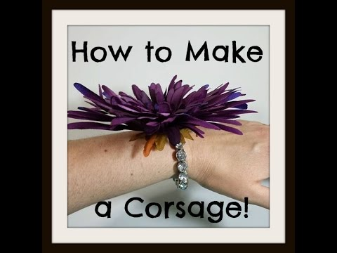 How to Make a Wrist Corsage for Weddings/Prom