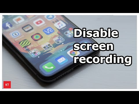 How to disable screen recording in iPhone