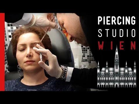 Eyebrow Piercing / Augenbrauen Piercing - Marc's Piercing TV