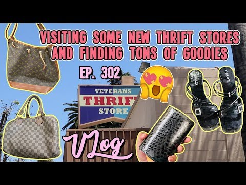 VISITING SOME NEW THRIFT STORES AND FINDING TONS OF GOODIES   VLOG EP. 302