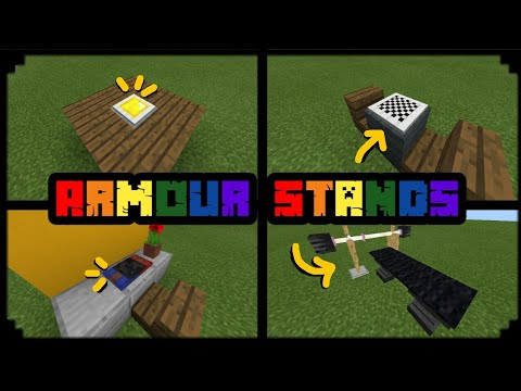 MCPE 1.2 | 5 Things You CAN Do with Armor Stands! | Armor Stand creation