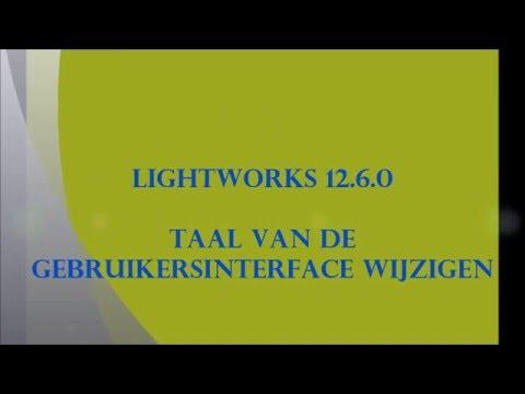 Lightworks 12.6.0 Taal wijzigen
