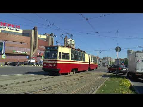 ST PETERSBURG RUSSIA TRAMS MAY 2018