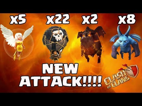 Healer + Lava + Balloon + Minion: TH11 NEW STRONG TROPHY PUSH ATTACK STRATEGY | Clash Of Clans