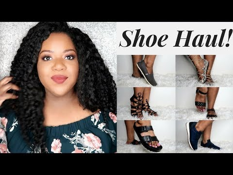 SIZE 10 SHOE TRY-ON HAUL |  NEW SHOES FOR MY BIG, FLAT FEET!