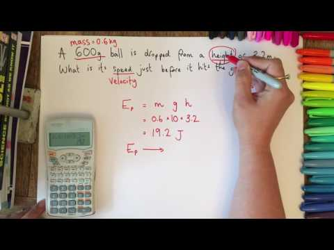GCSE Physics exam calculations: using mass and height to find final speed