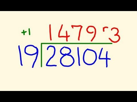 Long Division trick - Fast calculation!