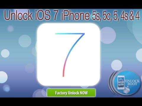 Unlock iOS 7.1.2 iPhone 4 5 5c 4s & iPhone 5S via IMEI Code
