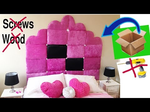 DIY Headboard with just cardboard.No wood no screws25 GREATEST HOME DECOR IDEAS YOU'VE EVER SEEN