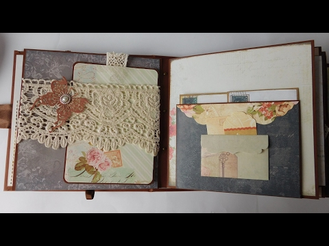 Vintage scrapbook memories album