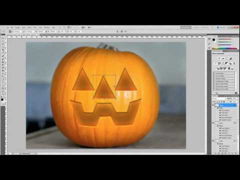 Photoshop - Halloween Jack-o-Lantern Tutorial