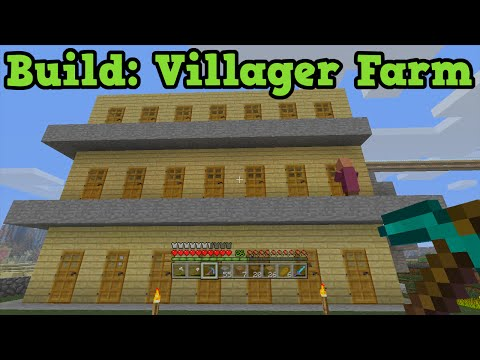 Minecraft Xbox 360 - Build Tutorial - NPC Villager Farm (Appartment)