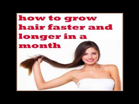 how to grow hair faster and longer in a month (health tips 2016)