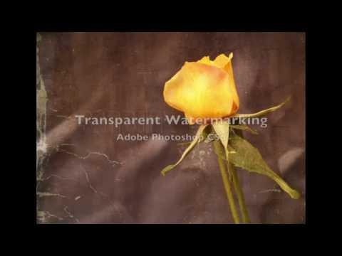 Transparent Embossed Watermarking in Adobe PS CS6
