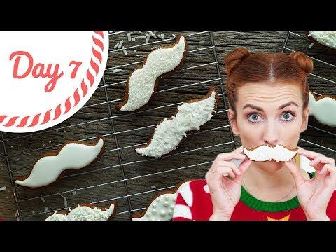 Santa Moustache Gingerbread Cookie Recipe || Vlogmas 7