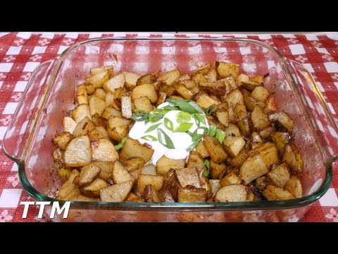 How to Make Baked or Roasted Onion Potatoes in the Toaster Oven