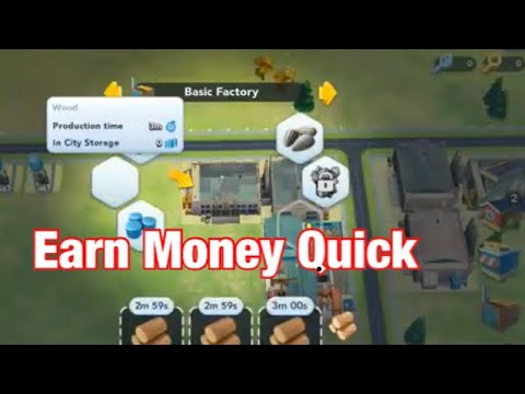 HOW TO EARN MONEY IN SimCity BUILDIT QUICK.