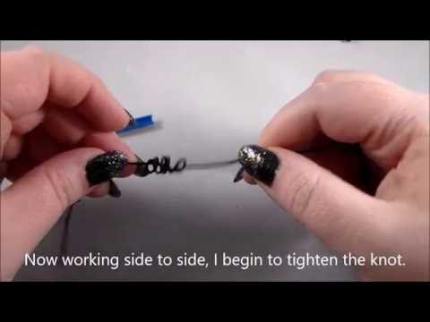 How to Knot with a Rosary Knotting Tool