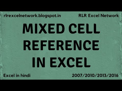 54* How to use MIXED CELL REFERENCE in Excel {Hindi}
