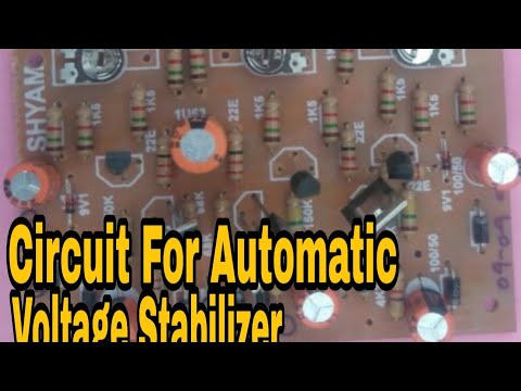 Circuit For Automatic Voltage Stabilizer (.5Kva To 10 Kva) |Skill Development