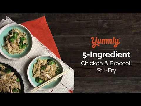 5-Ingredient Chicken, Broccoli and Garlic Stir-Fry