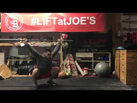Hang Snatch from below knee with no foot movement