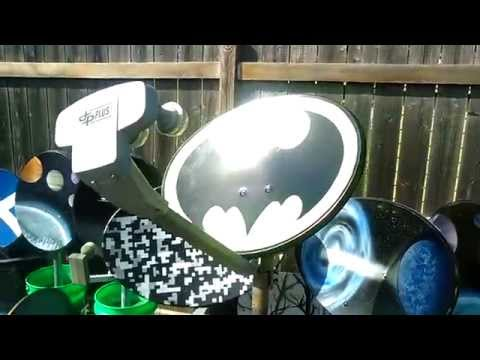 Glow in the Dark Dish Network HD Batman Satellite Dish