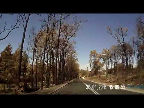 Perth Hills Bushfire dashcam video - two weeks later (Riley Road)
