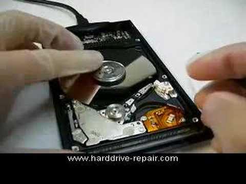 Laptop hard drive stuck heads to platter