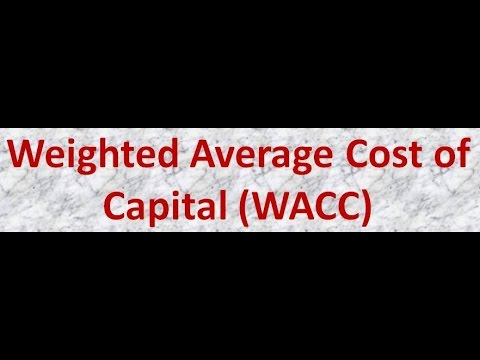 Weighted Average Cost of Capital (WACC) Calculation