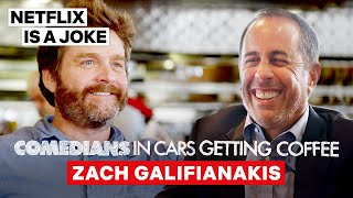 Zach Galifianakis Tricked Jerry Seinfeld Into Doing Between Two Ferns | Netflix Is A Joke